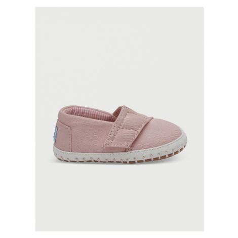 Topánky Toms Pink Canvas Tn Cribalp Lay Růžová