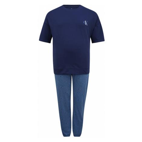 Calvin Klein Underwear Dlhé pyžamo  dymovo modrá / námornícka modrá