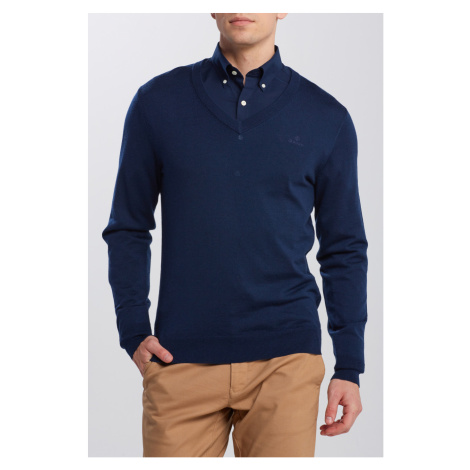 SVETER GANT WASHABLE MERINO V-NECK