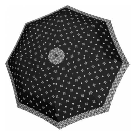 Doppler Dámsky skladací dáždnik Black &white 7441465BW