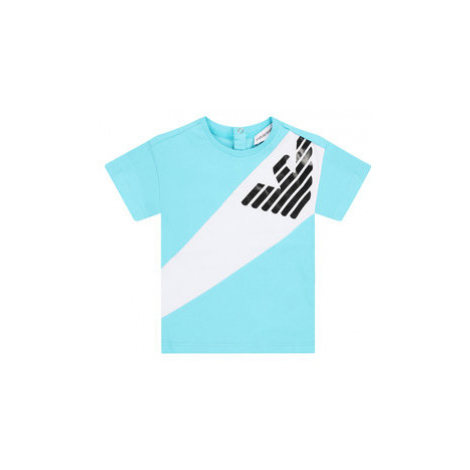 Emporio Armani Tričko 3HHT03 4J09Z 0752 Modrá Regular Fit