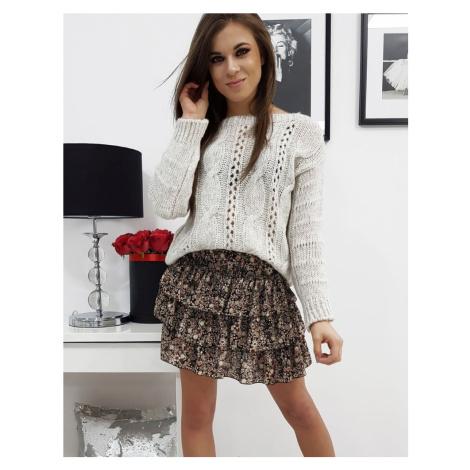 Dámsky béžový moderný sveter my0678
