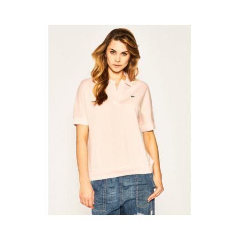Lacoste Polokošeľa PF0504 Ružová Loose Fit