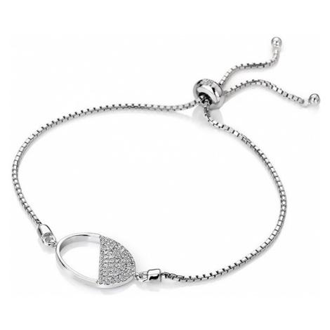 Hot Diamonds Strieborný náramok s diamantom Horizon Topaz DL602