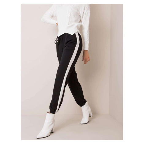 OCH BELLA Black and white pants with stripes