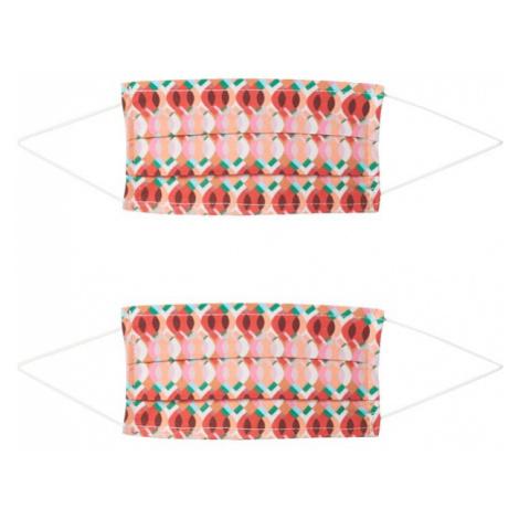 Zwillingsherz Látkové rúško '2er Pack Retro'  červená / zmiešané farby