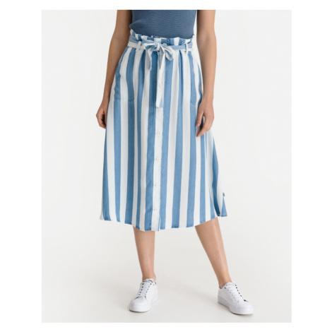 Lee Button Front Sukňa Modrá Biela