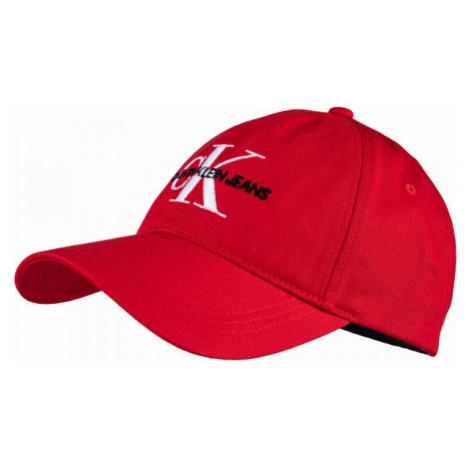 Calvin Klein CKJ MONOGRAM CAP červená - Unisex šiltovka