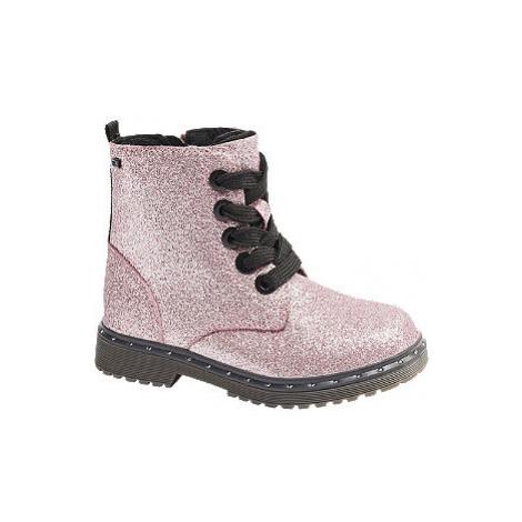 Ružová šnurovacia obuv so zipsom Tom Tailor s TEX membránou