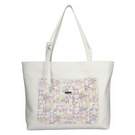 Dámska kožená kabelka Facebag Tera - krémová