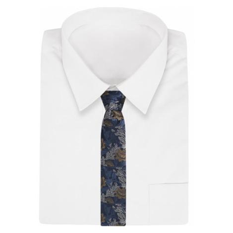 Granátova kravata s kvetmi