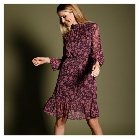 Blancheporte Šaty s potlačou a voálom slivková/lila