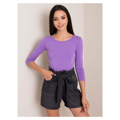Fialové bavlnené tričko