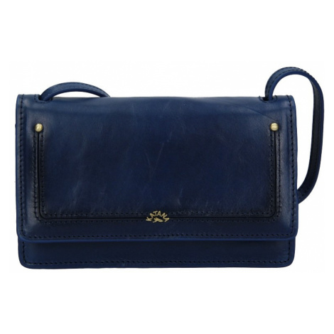 Kožená dámska crosbody kabelka Katana Nicca - modrá