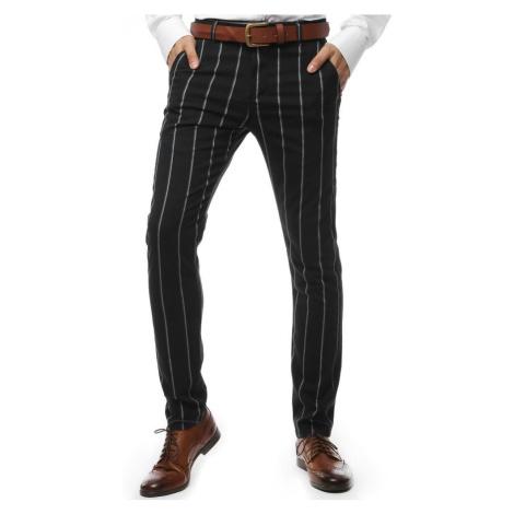 Čierne elegantné nohavice DStreet