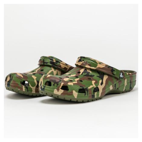 Crocs Classic Printed Camo Clog army green / multi