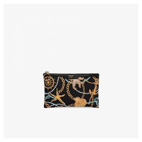 Saténová mini listová kabelka Sailor Pocket Clutch WOUF