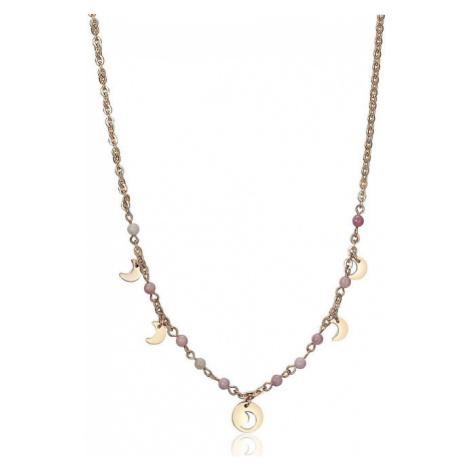 S`Agapõ Oceľový náhrdelník s polmesiaci Haiti SHT05 S'Agapõ