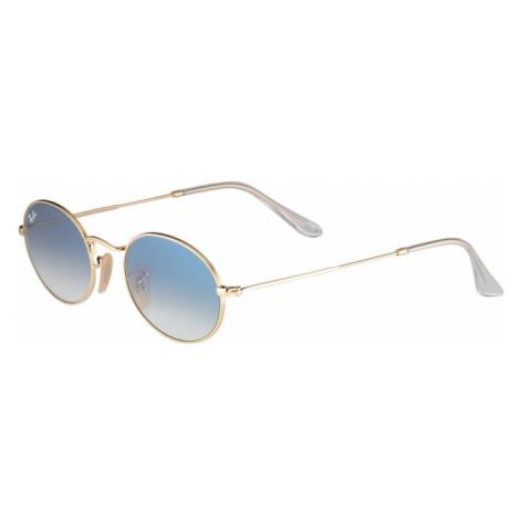 Ray-Ban Slnečné okuliare 'OVAL'  svetlomodrá / zlatá