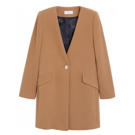 MANGO Prechodný kabát  svetlohnedá