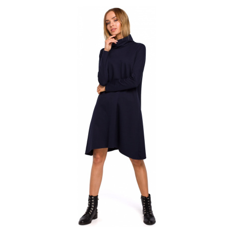 Made Of Emotion Woman's Dress M480 Navy Blue