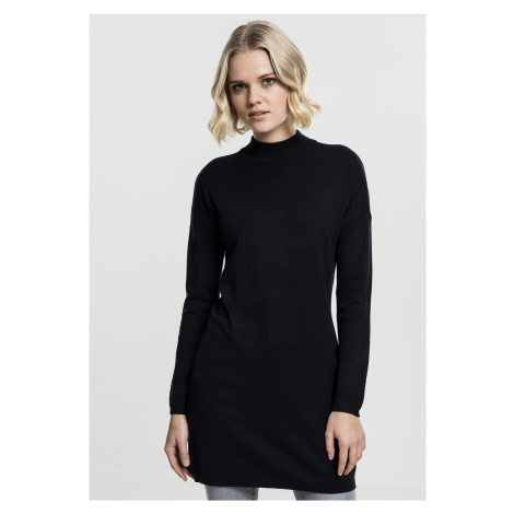 Dámske šaty URBAN CLASSICS Ladies Oversized Turtleneck Dress čierne