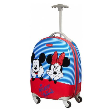 Samsonite Detský kabínový cestovný kufor Disney Ultimate 2.0 Disney Stripes 20,5 l - modrá
