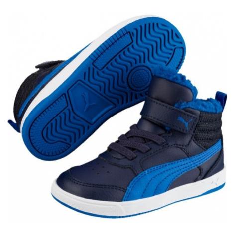 Puma REBOUND STREET V2 FUR PS modrá - Detská zimná obuv
