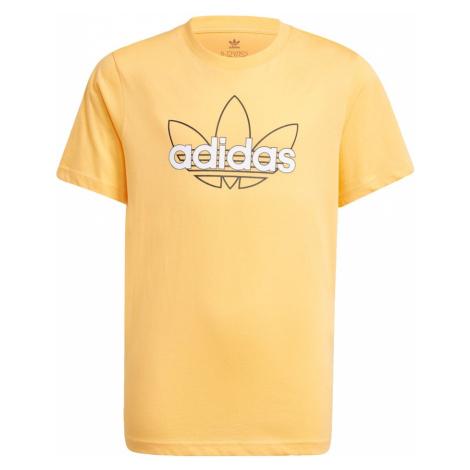 ADIDAS ORIGINALS Funkčné tričko  svetlooranžová / čierna / biela