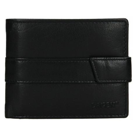 Pánska kožená peňaženka Lagen Marian - čierna
