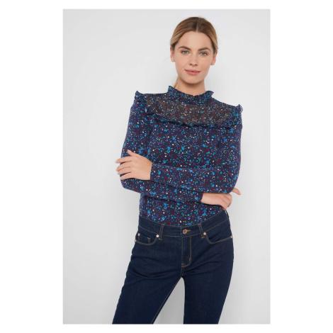 Obtiahnuté, kvetinové tričko Orsay
