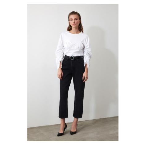 Trendyol Black High Waist Dad Jeans