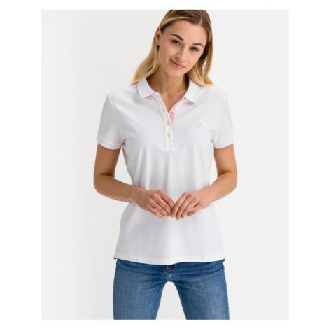 Gant Contrast Collar Polo tričko Biela