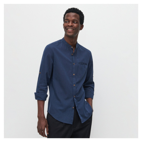 Reserved - Bavlnená košeľa slim fit - Tmavomodrá