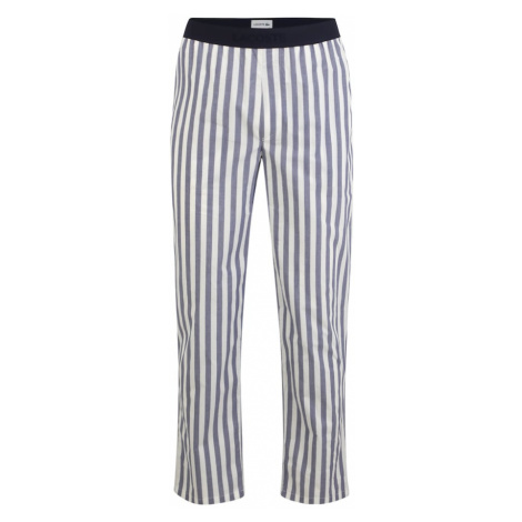 LACOSTE Pyžamové nohavice  biela / modrá / námornícka modrá