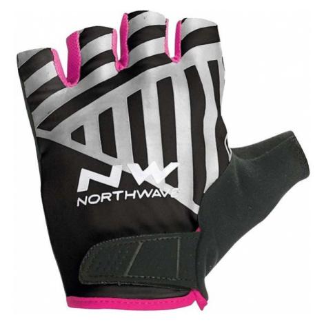 Northwave FLAG SHORT W GLOVES čierna - Cyklistické rukavice North Wave