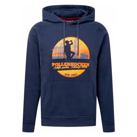 Derbe Mikina 'POLLERHOCKEN'  námornícka modrá / žltá / oranžová