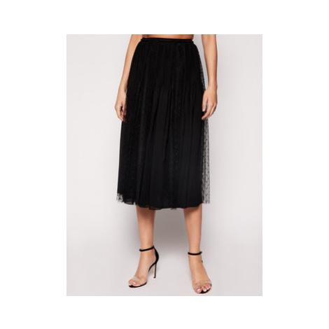 Red Valentino Plisovaná sukňa TR0RAA15 Čierna Regular Fit