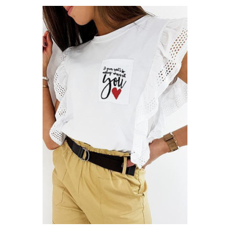 LOVE YOU women's blouse white RY1391 DStreet