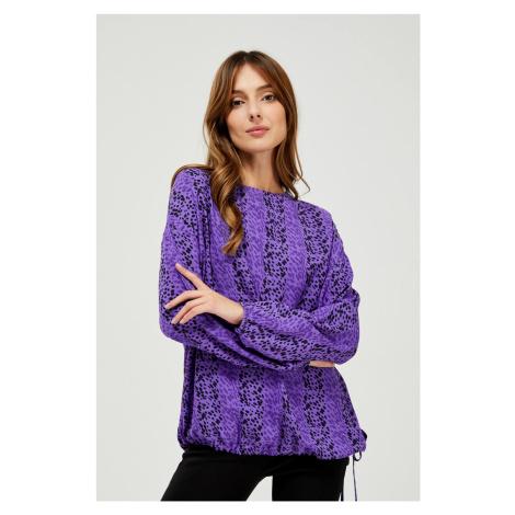 Moodo fialová blúzka so vzorom