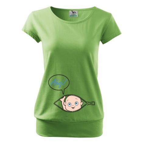 Tehotenské tričko Kuk z bruška - túto potlač si zamiluješ!