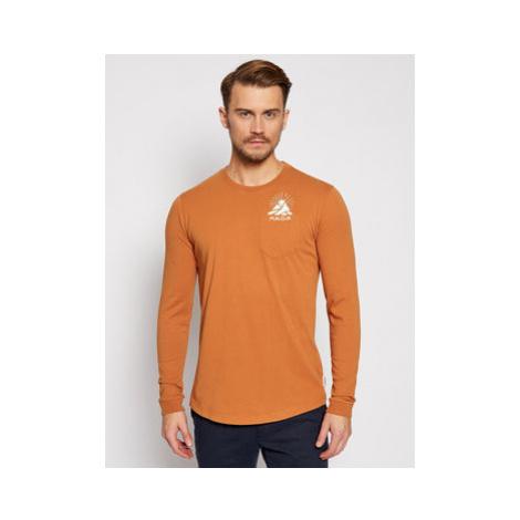 Maloja S dlhými rukávmi LegshomM 30508-1-8416 Oranžová Relaxed Fit