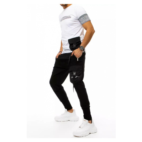 Men's black and white tracksuit Dstreet AX0370