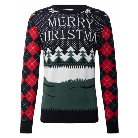 Kronstadt Sveter 'Ugly X-mas Merry Christmas'  biela / námornícka modrá / červená / zelená