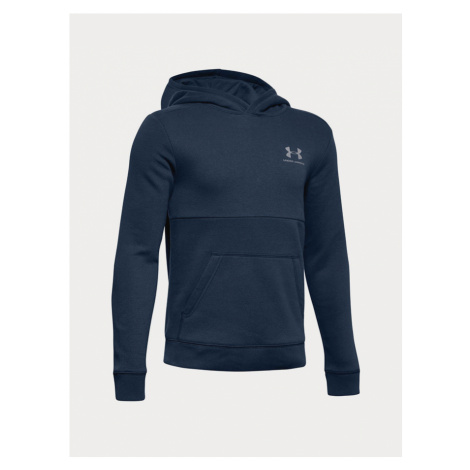 Mikina Under Armour Eu Cotton Fleece Hoody Modrá