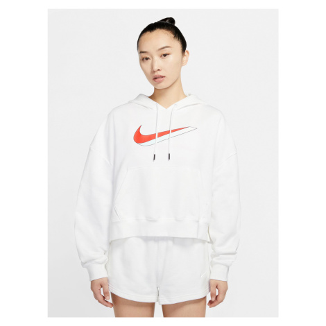 Sportswear Icon Clash Fleece Mikina Nike Biela