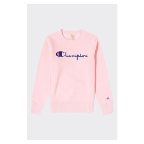 Champion Premium reversa weave dámska mikina  veľké logo - svetlo ružová Veľkosť: XS