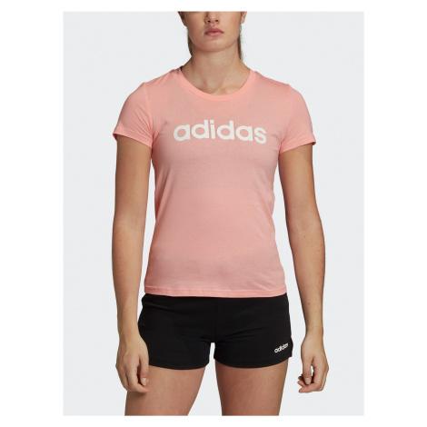 Svetloružové dámske tričko adidas CORE