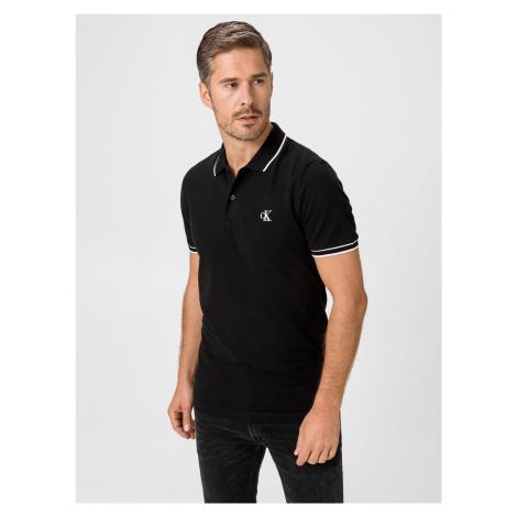 Polo triko Calvin Klein Čierna