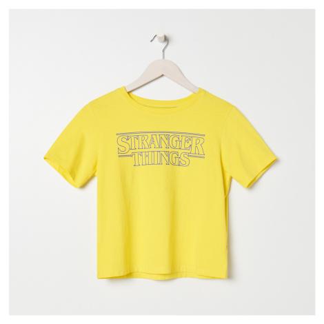 Sinsay - Tričko Stranger Things - Žltá